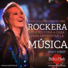 Conoce a Ricki más que una mamá es la estrella principal de The Flash. Meryl Streep, Ricki And The Flash, Movies, Movie Posters, Rocker Chick, Star, Musica, Films, Film Poster