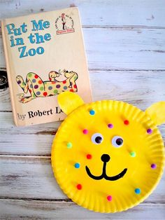Read the cute Put Me in the Zoo  book by Robert Lopshire perfect for quick craft for preschoolers!