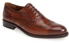 $419, Lloyd Lowell Wingtip. Sold by Nordstrom. Click for more info: https://lookastic.com/men/shop_items/295245/redirect
