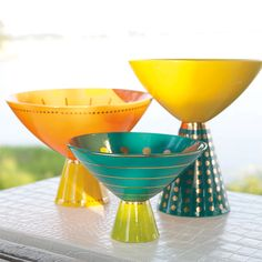 Jonathan Adler Porcelain Bon Bon Bowls -- Mr. Adler has really outdone himself with his new stuff. My favorite is the small one.
