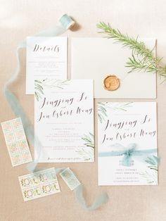 You Have to See This Charming Garden Wedding in Shanghai! | Wedding Invitation | Wedding Stationery |