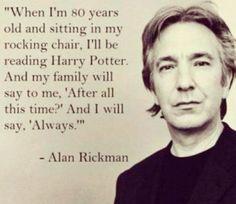 Muere Alan Rickman, mejor conocido como Profesor Snape
