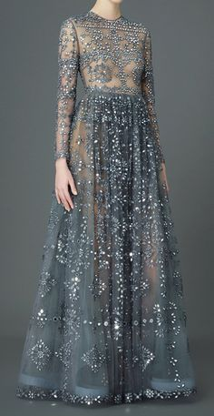 VALENTINO Embellished tulle gown #dress
