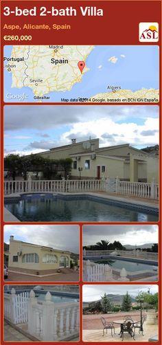 3-bed 2-bath Villa in Aspe, Alicante, Spain ►€260,000 #PropertyForSaleInSpain