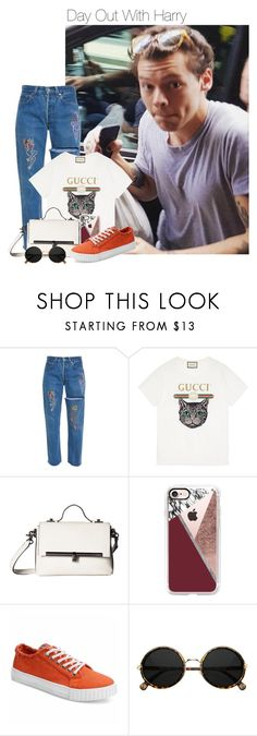 """""""Day Out With Harry"""" by shealwaysfashion ❤ liked on Polyvore featuring Gucci, Botkier and Casetify"""