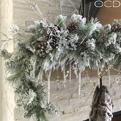Close up of my Christmas mantle- I used a LOT of crystal this year! Sharing for some fun hashtags if you want to… Rose Gold Christmas Decorations, Silver Christmas, Country Christmas, Xmas Decorations, Christmas Home, Holiday Decor, Victorian Christmas, Vintage Christmas, Christmas Design