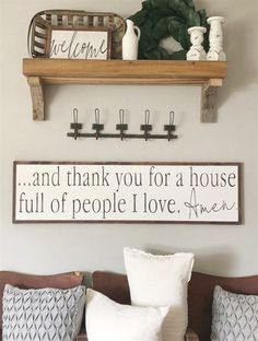And Thank You For a House Full of People I Love Amen- Family Sign- Love Sign- Living Room Sign- Mantle Decor- Large Wood Sign- Distressed - Decoration Living Room Remodel, My Living Room, Living Room Furniture, Living Room Decor, Rustic Furniture, Small Living, Antique Furniture, Modern Furniture, Furniture Stores