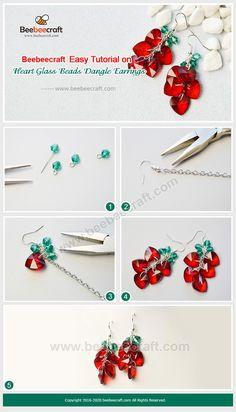 Seed Bead Jewelry, Jewelry Making Beads, Wire Jewelry, Jewelry Crafts, Seed Beads, Jewellery, Beaded Earrings, Earrings Handmade, Handmade Jewelry
