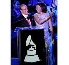 Whitney with Clive Davis in February 2011