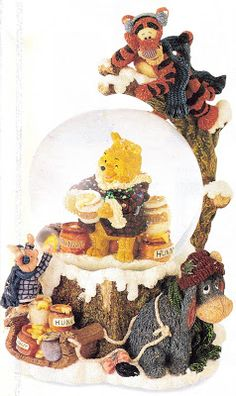 Winnie the Pooh Christmas Globes | photo from the disney catalog winnie the pooh description this is the ...