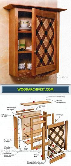 Wall Cabinet Plans - Furniture Plans and Projects | WoodArchivist.com