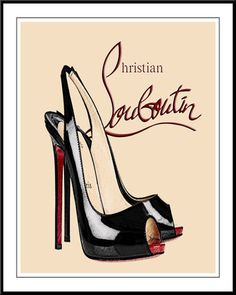 sooo cute! クリスチャンルブタン/louboutin 靴 キャンパスポスター #63