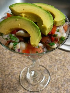 Ceviche with avocados
