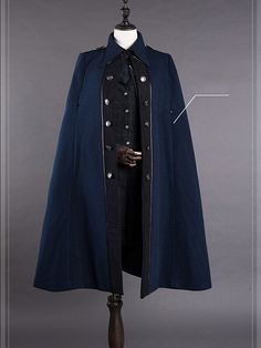 Preorder Military Uniform Cape-Griffin School by ZJstory Anime Outfits, Mode Outfits, Fashion Outfits, Mode Costume, Fantasy Dress, Drawing Clothes, Character Outfits, Lolita Fashion, Gothic Lolita