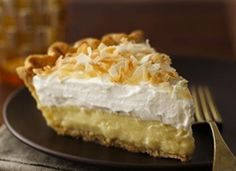 Triple Threat Coconut Cream Pie    Ingredients        1 Pillsbury® refrigerated pie crust, softened as directed on box      1 can (13 1/2 oz) coconut milk, shaken well      1/2 cup plus 1 tablespoon sweetened shredded or flaked coconut, toasted      1 cup whole milk      1/2 vanilla bean, split (or 1 teaspoon vanilla)      2/3 cup sugar      1/4 t