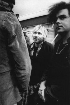 20th Anniversary of Nirvana at Reading 1992. Kurt in the festival area with the Melvins' King Buzzo.
