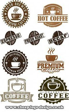 coffe shop stamp logo ideas www.cheap-logo-design.co.uk #coffee #coffeeshop #cafelogo #interiordecorationlogo