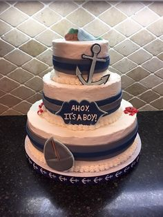 Ahoy it's a Boy Baby shower cake