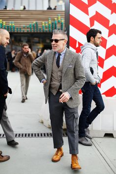 From Sartorial World & Co.  Nick Wooster, too short for my taste