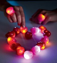 Flashing Heart Rings