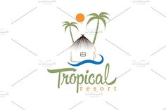 Logo for tropical resort by UVAconcept on @creativemarket
