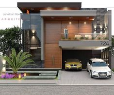 Modern Exterior House Designs, Best Modern House Design, Classic House Design, Modern House Facades, Modern Villa Design, Bungalow Exterior, Bungalow House Design, House Front Design, Design Your Dream House