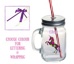 A personal favourite from my Etsy shop https://www.etsy.com/uk/listing/540665832/mason-jar-glass-personalized-back-to