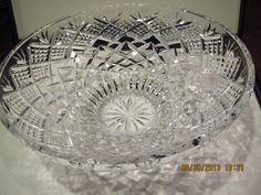 "Waterford Crystal Large 12"" Centerpiece Console Bowl Statement Piece"