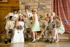 like the dress color and the groomsmen's suits