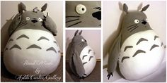 Plusch Totoro :) A large pillow (68 cm height without ears;p) to hug. I made it as a gift for my little niece for the first birthday :) http://aditu-art-gallery.blogspot.sk/2015/01/pluszowy-totoro.html