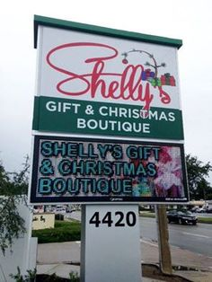 Full Color LED Sign, Shelly's Gifts and Christmas Boutique