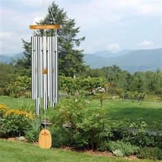 """Woodstock #Anniversary #Chime.  Tuned to the notes of """"The Anniversary Waltz"""", this wind chime is a perfect gift for that special celebration. #windchimes"""