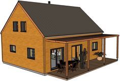 Surface Habitable, Construction, Tiny House, Shed, Outdoor Structures, How To Plan, House Styles, Home Decor, Houses
