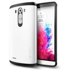 LG G3 Kılıf, Spigen Slim Armor - Shimmery White