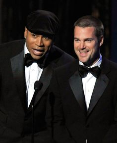 A double crush - LL Cool J and Chris O'Donnell - *fanning self*