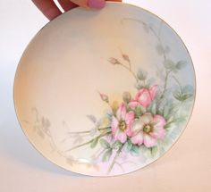 Gorgeous Haviland Vintage Hand Painted Plate with Pink Roses - Limoges France by HouseofLucien, $40.00