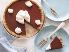 Double Chocolate Pudding Pie Recipe : Ellie Krieger : Food Network