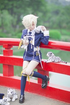 Touken ranbu cosplayer 刀剑乱舞 五虎退 - zhamaogui(炸毛鬼) Gokotai Cosplay Photo - WorldCosplay
