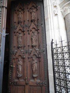 Chapel door in the Hunting Lodge, Mayerling, Austria