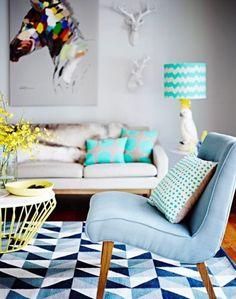 Inspire-se nas ideias de decoração com a cor azul.
