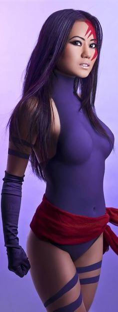 Great Psylocke cosplay, not doing body paint though!