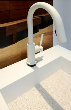 Kitchen Faucet: Brizou0027s Solna In Matte White To Blend Into The Overall White  Landscape Of