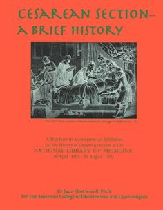 Interesting historical look at cesarean section