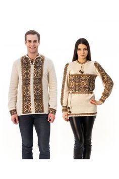 Сімейний комплект «Вертеп» складається з жіночої та чоловічої в'язаних вишиванок. Vest, Sweaters, Jackets, Fashion, Down Jackets, Moda, Fashion Styles, Sweater, Fashion Illustrations