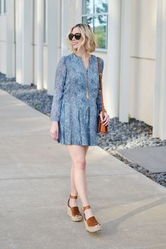 Uptown Cheapskate Tory Burch dress and wedges, designer brands for lesss