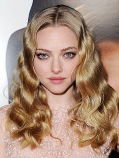 Amanda Seyfried Long Lace Front Blonde Wavy Remy Human Hair Wig