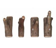 HK-living Haak bruin hout +/-13x6x23cm, Haken van takken