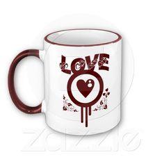 Bleeding Heart Love. Funky Vector Mug