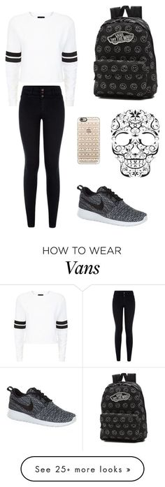 """Plain"" by adrianagallas on Polyvore featuring NIKE, Vans and Casetify"