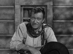 "John Wayne introduces the Premier Show of Gunsmoke for CBS Television in 1955. John Wayne predicts James Arness will be a big ""Star."""